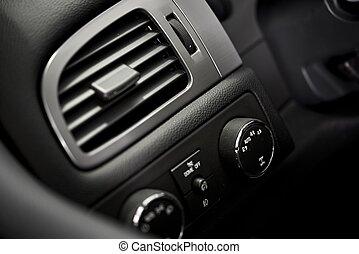 Car Air Condition Vent. Modern Car Dashboard Elements....
