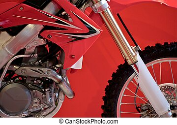 Dirt Bike Closeup Cross Motorcycle Transportation Photo...
