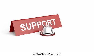 Support - Service bell and support sign