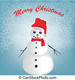 happy snowman in christmas