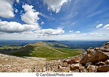 Colorado Summer Landscape. Rocky Mountains - Road to Mount...
