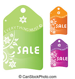 black friday - three colored icons with white text and...