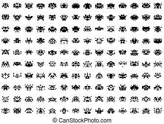 space invaders - An illustration of a simple set of space...