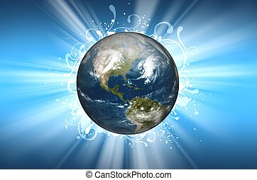 Planet Earth Background Design. Cool Planet Earth in the...