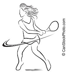 tennis woman player symbol