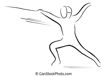 fencing player symbol