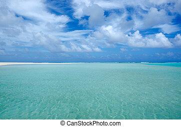 Sea view of Aitutaki Lagoon Cook Islands