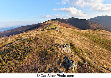 Mountains - Bieszczady mountains in late autumn