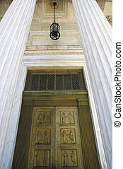 Bronze Door - Front door at US Supreme Court Building