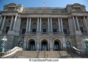 Library of Congress - Facade of Library of Congress Building...