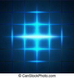 Blue glowing grid squares abstract background. RGB EPS 10...