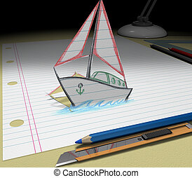 Sketch your dream (boat)