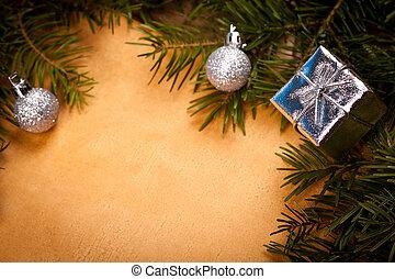 Closeup Christmas frame detail