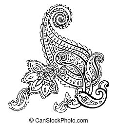 Paisley. Ethnic ornament. Vector illustration isolated.