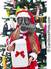 Toxic christmas - environmental concept