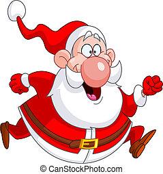 Running Santa - Santa Claus running