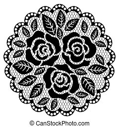 Lace doily with flowers