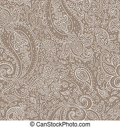 Seamless Paisley background. Hand Drawn vector pattern.