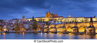 Prague. - Panoramic image of Prague, capital city of Czech...