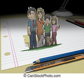 Stylet illustrazioni e archivi di immagini artistiche 14 for Family sogno