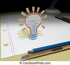 Sketch your dream (good Idea business) - Concept of planning...