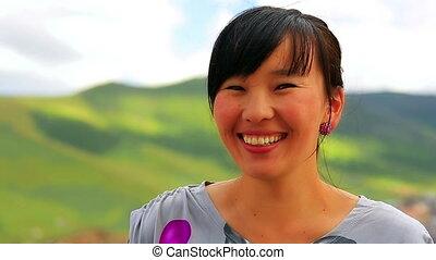 Beautiful Mongolian woman