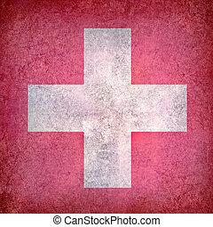 Grunge flag of Switzerland