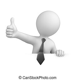 businessman with thumb up image with a work path