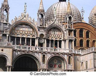 San Marco Church facade in Venice, Italy.