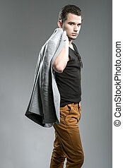 Handsome young man, fashion photography
