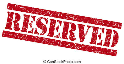 Reserved red grunge stamp