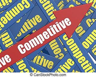 Competitive arrow - Hi-res original rendered computer...