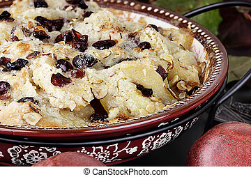 Homemade Pear Crisp - Pear crisp made with cranberries and...