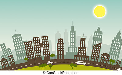 Summer in city