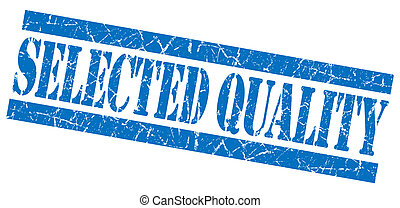 Selected quality blue grunge stamp