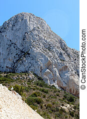 Natural Park of Penon de Ifach situated in Calp, Spain A...