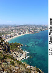 Panoramic view over Calp (Spain).