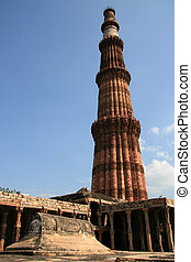 Qutb Minar, Delhi, India - Qutb Minar ruins in the city of...