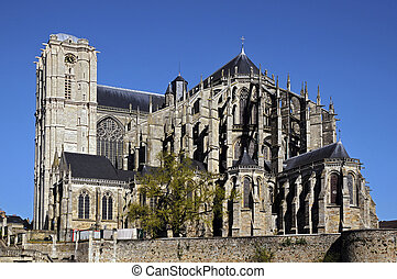 Cathedral of Saint Julien at Le Man - Roman cathedral of...