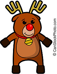 Rudolf - Vector drawing of a cartoon Rudolf the reindeer