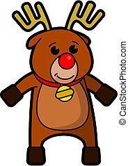 Rudolf - Vector drawing of a cartoon Rudolf the reindeer
