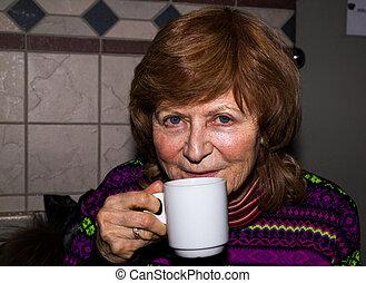 Portrait of a happy senior woman.