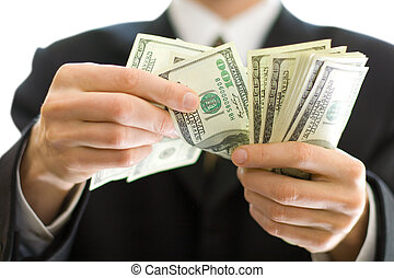 business money in hands