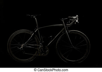 Road Racing Bike Dark Background - Road Racing bike shot on...