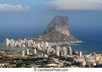 Natural Park of Penon de Ifach situated in Calp, Spain. A...