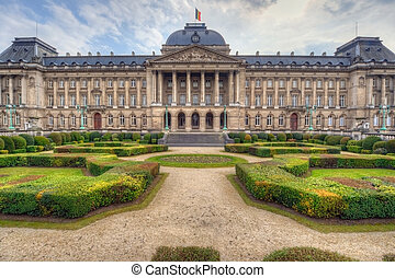 Royal Palace in Brussels - The Royal Palace in the center of...