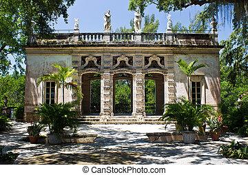 Building in an ornamental garden
