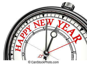 happy new year concept clock