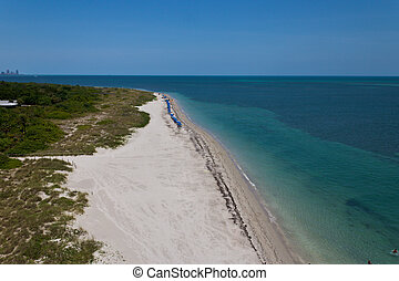 Quiet beach in Key Biscayne Miami, Florida