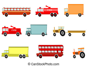 Cartoon vehicles - Cartoon trucks and other heavy vehicles